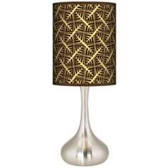 Tan Wailia Giclee Kiss Table Lamp
