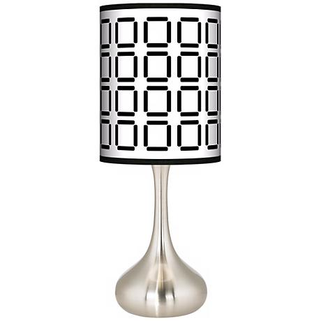 Open Grid Giclee Kiss Table Lamp