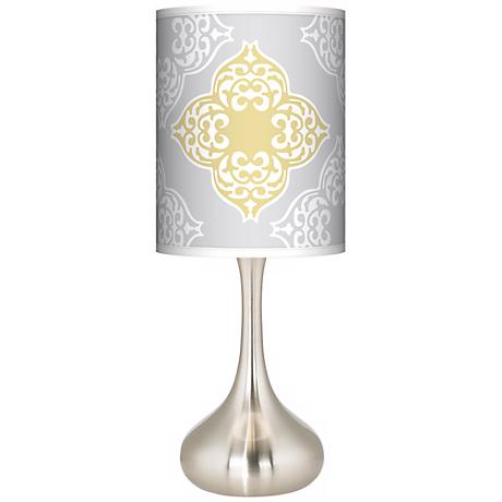 Aster Grey Giclee Kiss Table Lamp