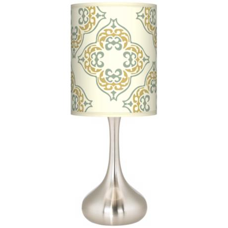 Aster Ivory Giclee Kiss Table Lamp