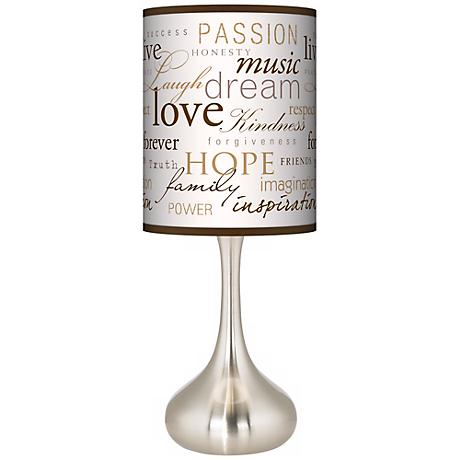 Positivity Giclee Kiss Table Lamp