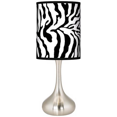 Safari Zebra Giclee Kiss Table Lamp