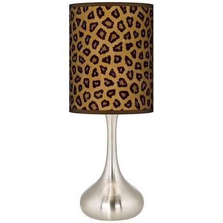 Safari Cheetah Giclee Kiss Table Lamp
