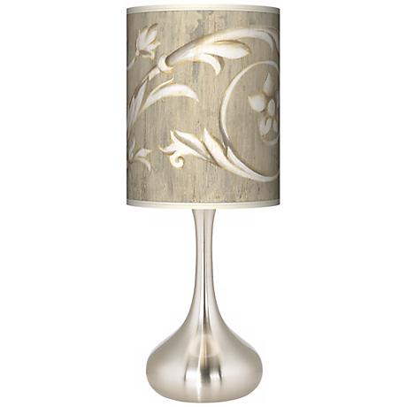 Laurel Court Brushed Steel Court Kiss Table Lamp