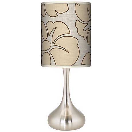 Floral Silhouette Giclee Kiss Table Lamp