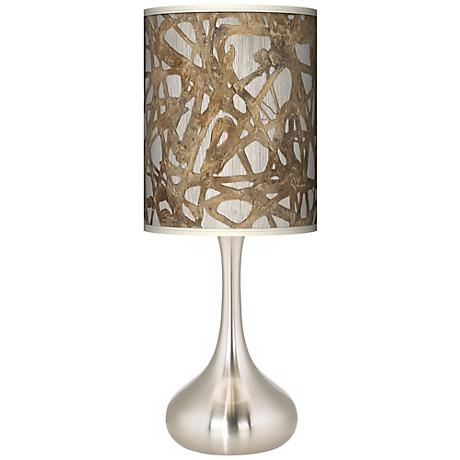 Organic Nest Giclee Kiss Table Lamp