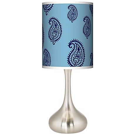 Paisley Rain Giclee Kiss Table Lamp