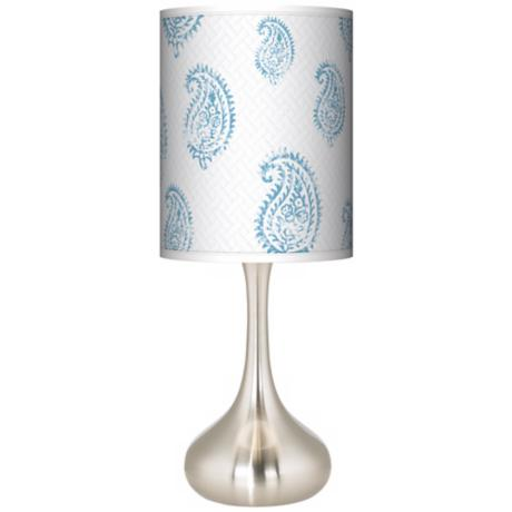 Paisley Snow Giclee Kiss Table Lamp