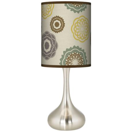 Ornaments Linen Giclee Kiss Table Lamp