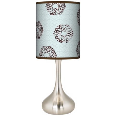 Weathered Medallion Giclee Shade Kiss Table Lamp
