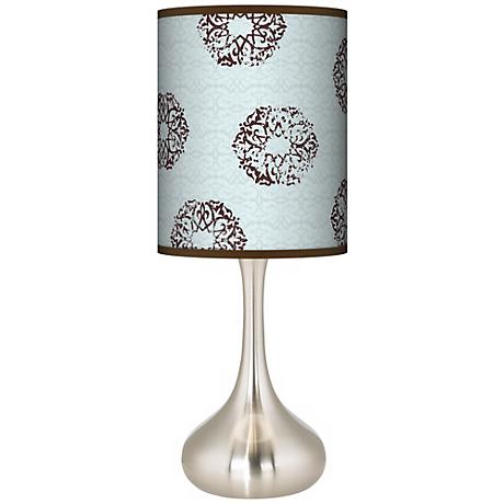 Sand Medallion Giclee Shade Kiss Table Lamp