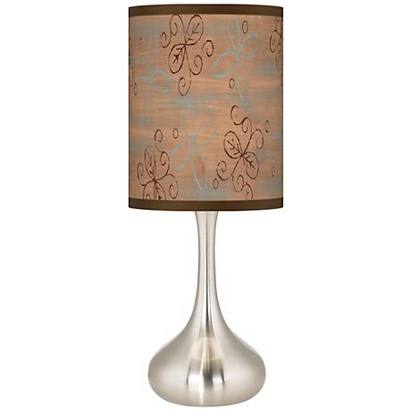 Cedar Lake Brushed Steel Kiss Table Lamp
