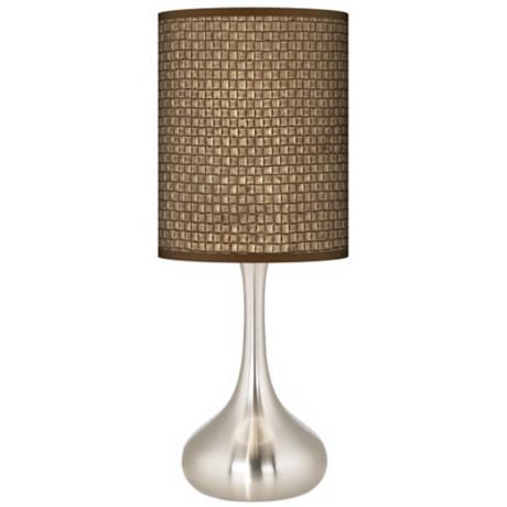 Interweave Giclee Kiss Table Lamp