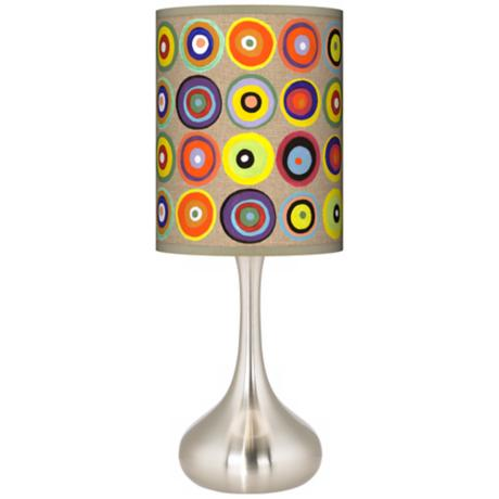 Marbles in the Park Giclee Kiss Table Lamp