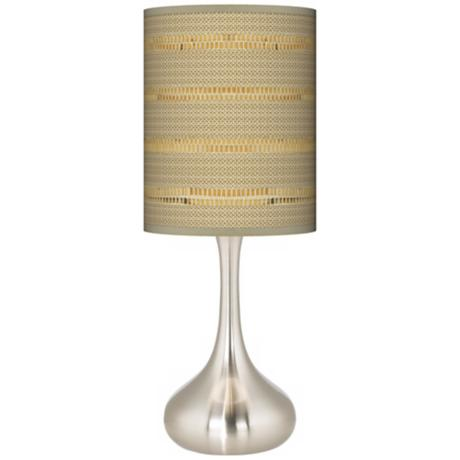 Woven Reed Giclee Kiss Table Lamp