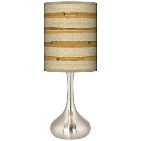 Bamboo Wrap Giclee Kiss Table Lamp
