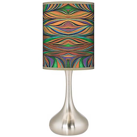 Exotic Peacock Kiss Table Lamp