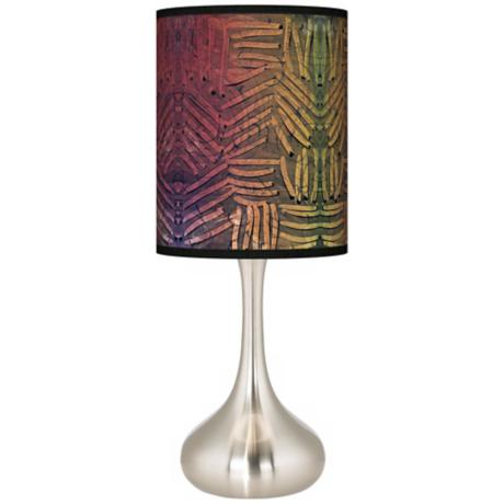 Autumn Fractals Giclee Kiss Table Lamp