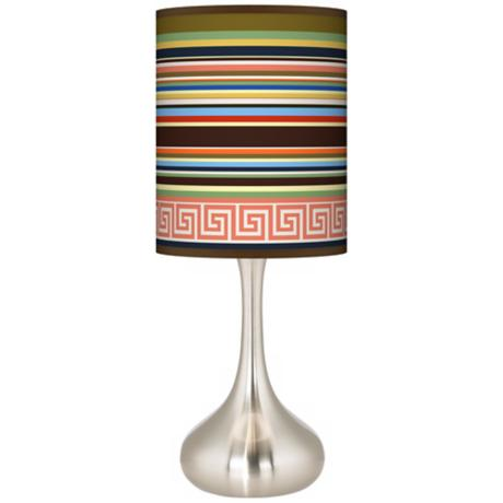 Island Party Time Giclee Kiss Table Lamp