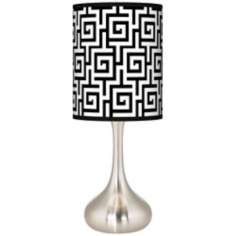 Greek Key Giclee Kiss Table Lamp