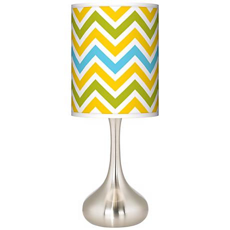 Citrus Zig Zag Giclee Kiss Table Lamp