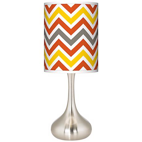 Flame Zig Zag Giclee Droplet Table Lamp