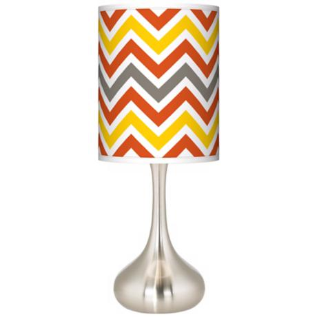 Flame Zig Zag Giclee Kiss Table Lamp
