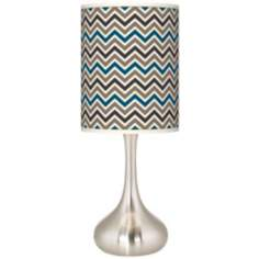 Zig Zag Giclee Kiss Table Lamp