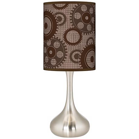 Industrial Gears Giclee Kiss Table Lamp