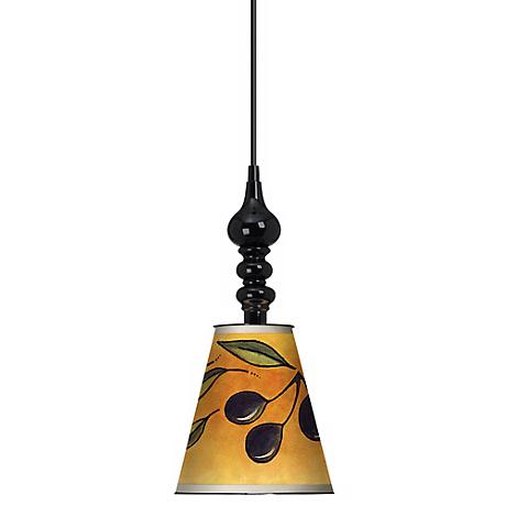 "Kavala Olive 7 1/2"" Wide Black Mini Pendant"