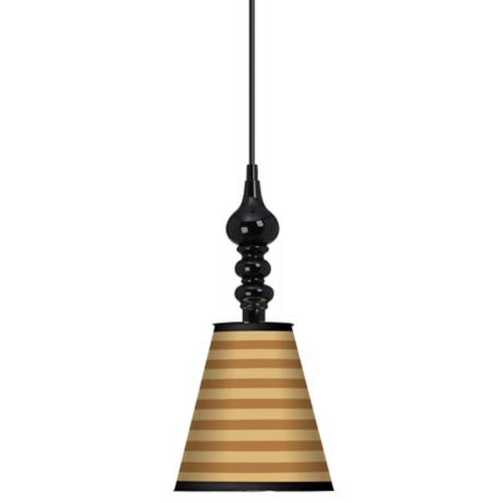 "Butterscotch Parallels 7 1/2"" Wide Black Mini Pendant"