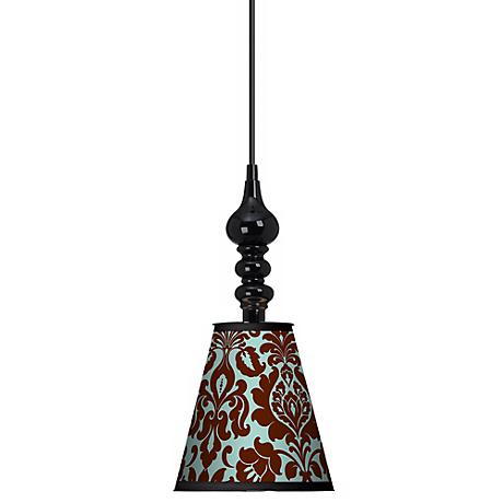 "Stacy Garcia Kiwi Tini Florence 7 1/2"" Wide Black Pendant"