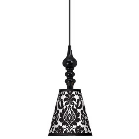 "Stacy Garcia Metropolitan 7 1/2"" Wide Black Mini Pendant"