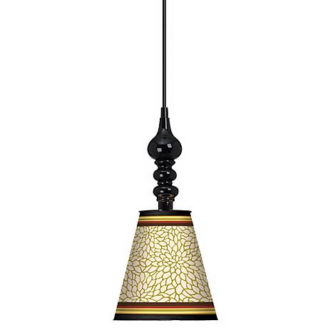 "Stacy Garcia Spice Dahlia 7 1/2"" Wide Black Mini Pendant"