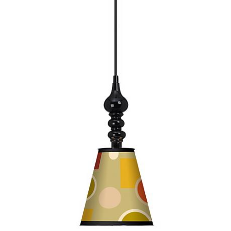 "Retro Citrus Medley 7 1/2"" Wide Black Mini Pendant"
