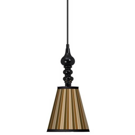 "Sorrel Vertical 7 1/2"" Wide Black Mini Pendant"