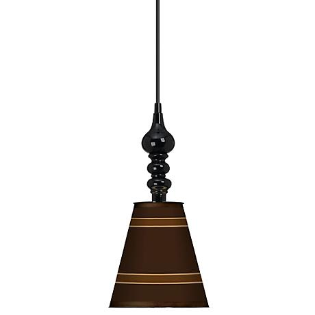 "Saratoga Stripe 7 1/2"" Wide Black Mini Pendant"