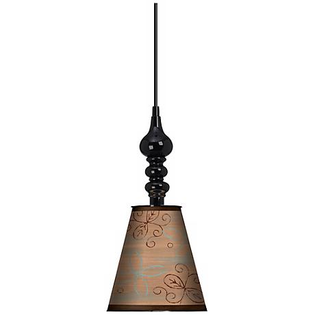 "Cedar Lake 7 1/2"" Wide Black  Mini Pendant"