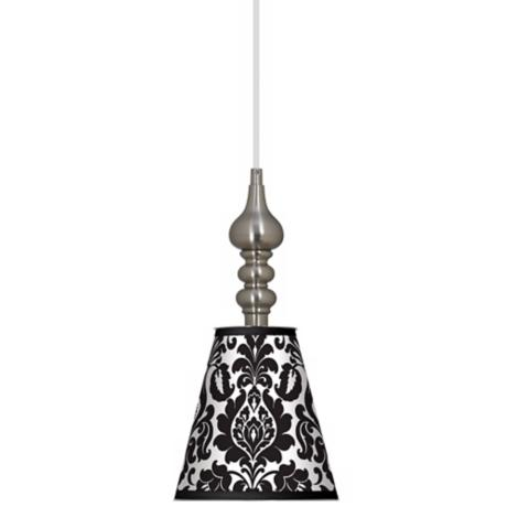 "Stacy Garcia Metropolitan 7 1/2"" Wide Brushed Steel Pendant"