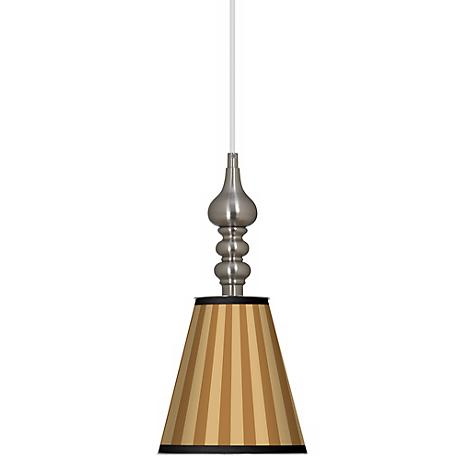 "Butterscotch Vertical 7 1/2"" Wide Brushed Steel Mini Pendant"