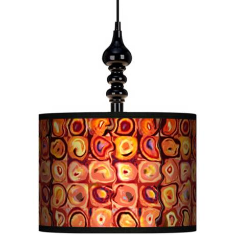 "Vibrating Colors 13 1/2"" Wide Black Swag Chandelier"