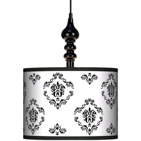 "French Crest 13 1/2"" Wide Black Swag Chandelier"