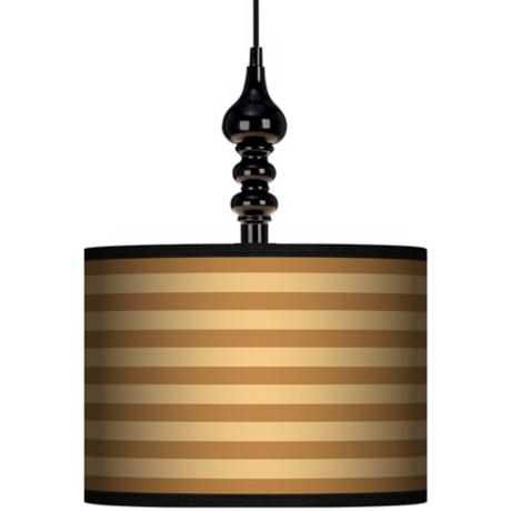 "Butterscotch Parallels 13 1/2"" Wide Black Swag Chandelier"
