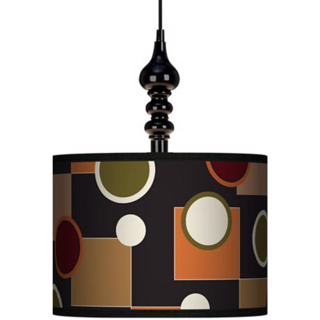"Retro Medley 13 1/2"" Wide Black Swag Chandelier"