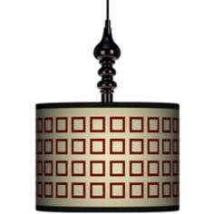"Simply Squares 13 1/2"" Wide Black Swag Chandelier"