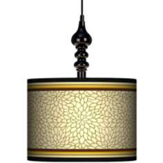 "Stacy Garcia Avocado Dahlia 13 1/2"" Black Swag Chandelier"