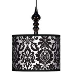 "Stacy Garcia Metropolitan 13 1/2"" Wide Black Swag Chandelier"