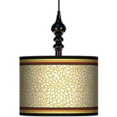 "Stacy Garcia Spice Dahlia 13 1/2"" Wide Black Swag Chandelier"