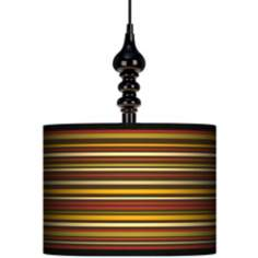 "Stacy Garcia Spice Stripe 13 1/2"" Wide Black Swag Chandelier"