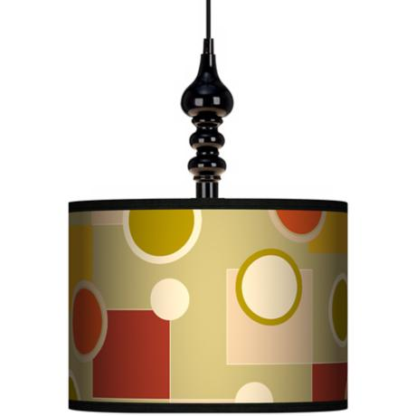 "Retro Citrus Medley 13 1/2"" Wide Black Swag Chandelier"